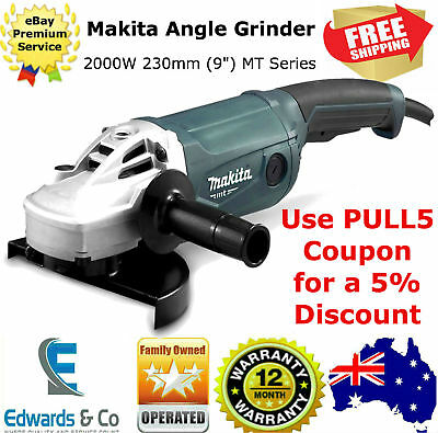 """Angle Grinder 2000W 230mm (9"""") MT Powerful Motor Soft Grip Trigger Switch Makita"""