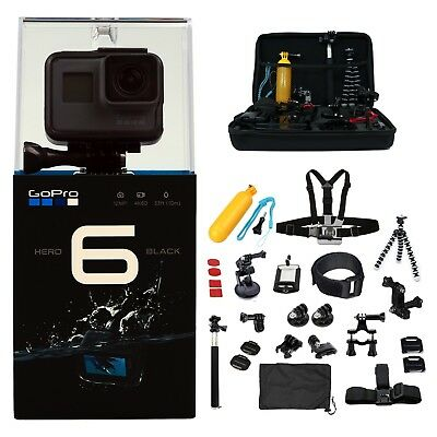 DEAL: GoPro HERO6 +64GB +2 batteries & charger +ALL U Need Kit. Camera Camcorder