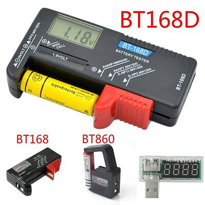 AA AAA C D 9V 1.5V Button Cell Battery Volt Tester Checker Indicator Wfg