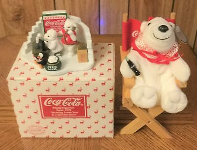 "Coca Cola Polar Bear Cub Figurine ""Hearing From You is a Special Treat""  & More"