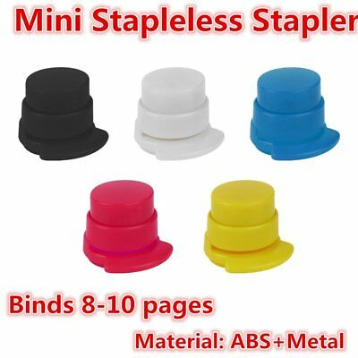 Office Home Staple Free Stapleless Stapler Paper Binding Binder Paperclip NI