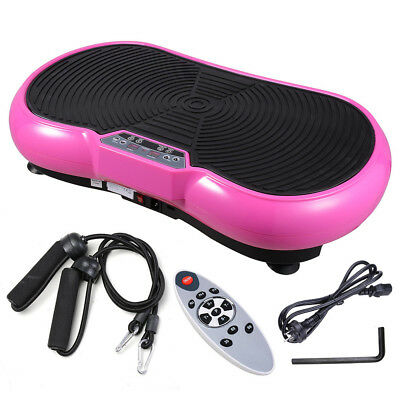 3500W Slim Vibration Machine Platform Plate Body Shaper Trainer Fitness Pink