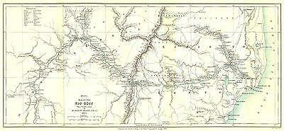 BRAZIL: Rio Dôce (Doce) . Linhares. From Steains survey. RGS;1888 map