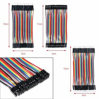 HOT 40Pcs Jump Wire Jumper Cables 2.54 M-M M-F F-F 1P-1P For Arduino Breadboard