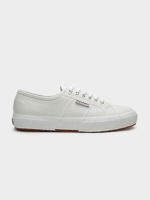 New Superga Unisex 2750 Cotu Classic Sneakers In White Leather