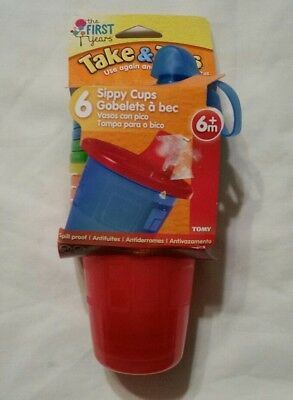 The First Years Take & Toss Spill-Proof Sippy Cups,  7oz, Pack of 6, NEW