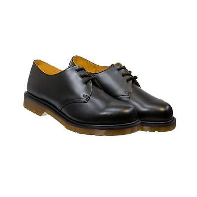 Dr. Martens 1461 Black 3 Eye Classic Smooth Leather Shoes with Air Wair Soleie