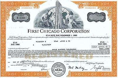 First Chicago Corporation, 1976,  6 3/4% Note due 1980 (100.000 $)