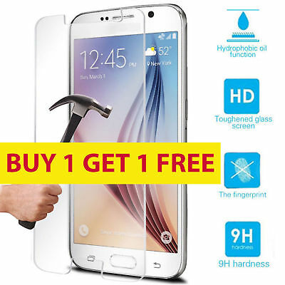 2X 100% Real Tempered Glass Film Lcd Screen Protector For Samsung Galaxy S7