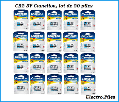 Lot of 20 battery/cells special photo CR2 3V lithium Camélion