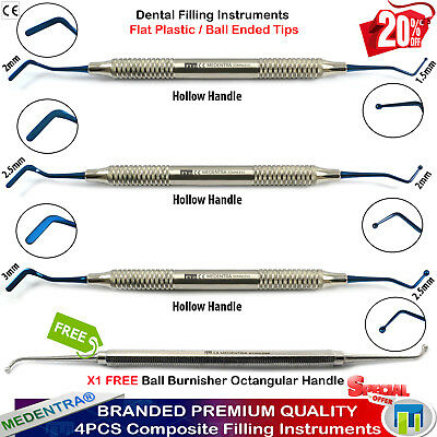 Medentra® X4 Dental Filling Instruments Composite Spatulas+Ball Burnisher Free