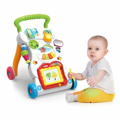 Baby Walker Multifunctional Toddler Sit-to-Stand Walker with Adjustable Screw WA
