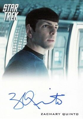Star Trek Movies 2014 Zachary Quinto as Spock Auto Card Into Darkness