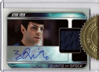 Star Trek Into Darkness Zachary Quinto as Spock Auto Costume Card 66/250