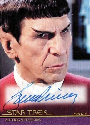 Star Trek Movies H & V Leonard Nimoy as Spock A126 Auto Card