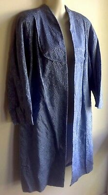 RETRO COLLECTABLE ORIGINAL VINTAGE JACKET COAT BLUE DRESS 1940's Madmen Vgc M