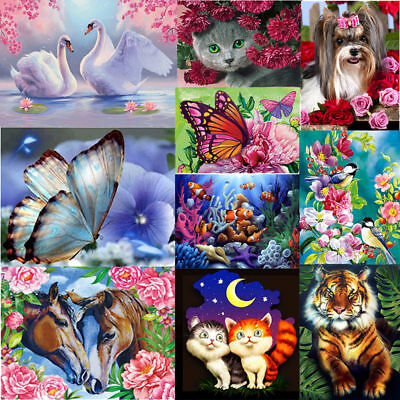5D Diamant Peinture Diamond Painting Broderie charmant Fleur Stitch Décor Craft