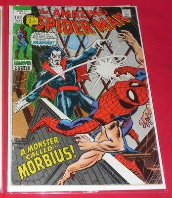 Amazing Spider-Man #101 1st Morbius Rare 1971 VERY SOUGHT AFTER !