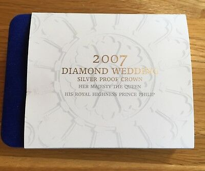 2007 Dimond Wedding Silver Proof Crown £5 Coin by The Royal Mint, COA