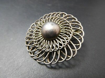 8026 | Fabelhafte Art Deco Brosche Brooch 800 Silber Meisterpunze LB Super Optik