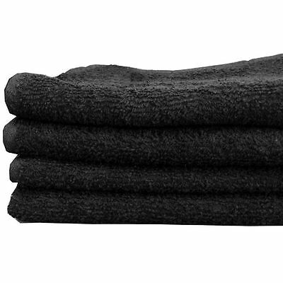 Black Salon Towels Bleach Proof 100% CottonTowel 43 x 65 cm x 12Pcs