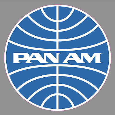 "PAN AM AIRLINES Logo 6"" Premium Vinyl Sticker Pan American World Airways Airline"