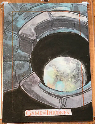 Game of Thrones Season 4 Four SKETCH CARD - Rich Molinelli Sketchafex Moon Door