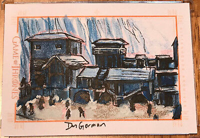 Game of Thrones Season 4 Four SKETCH CARD - Dan Gorman - Sketchafex Castle Black