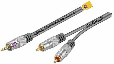 Home Theater HQ Jack Cable 3,5mm Jack/2x Cinch Gold Contact New