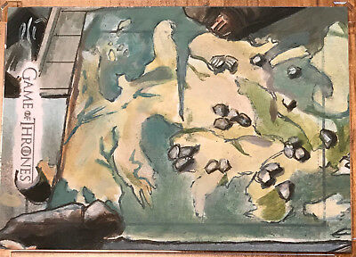 Game of Thrones Season 6 Six SKETCH CARD - Lee Lightfoot - Sketchafex Map Table