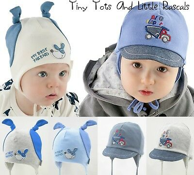 Baby Boy Infant Toddler Cotton Elastic Spring Autumn Hat Cap newborn - 2 years