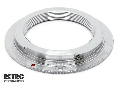 M42-EF M42 Screw Fit Lens to Canon EF EF-S EOS Mount Adapter Ring - No Flange