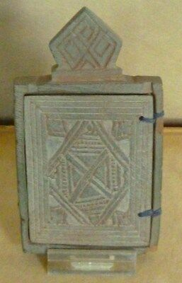 Uncommen Ethiopian Coptic Stone Icon Hand Carved African Orthodox Sculpture Art