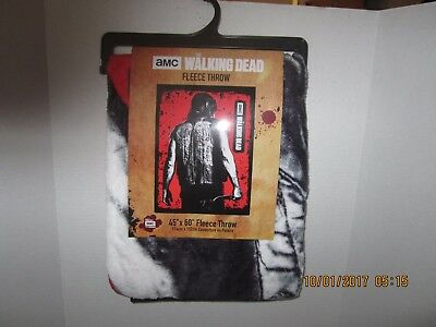 The Walking Dead Daryl Back Super Soft Fleece Throw Blanket New With Tags! AMC