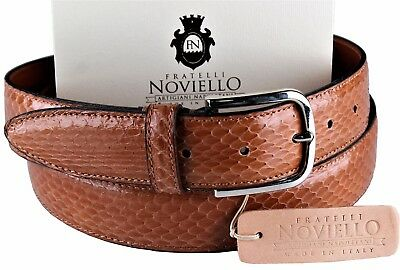 NWT FRATELLI NOVIELLO BELT pony hair calf leather honey luxury Italy eu105 us 41