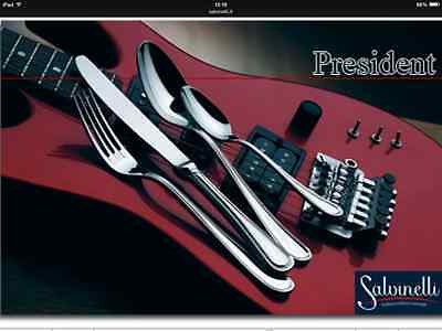 Salvinelli! Set Posate 72 Pz Inox 18/10 Mod President Made In Italy