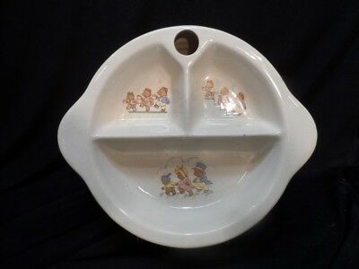 Vintage Ceramic Three Bears Heatable Baby Dish Dec. 1950