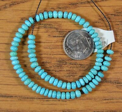 """8"""" strand Sleeping Beauty Turquoise 4mm Abacus Rondelle Beads Gr8 Color"""