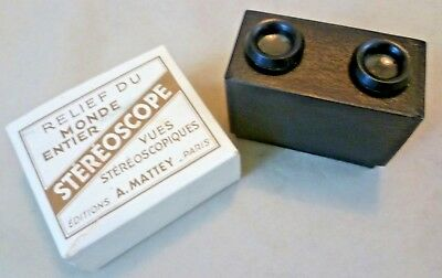 Vintage Stereo Viewer - Boxed Stereoscope Editions A Mattey - France C1930s/40s