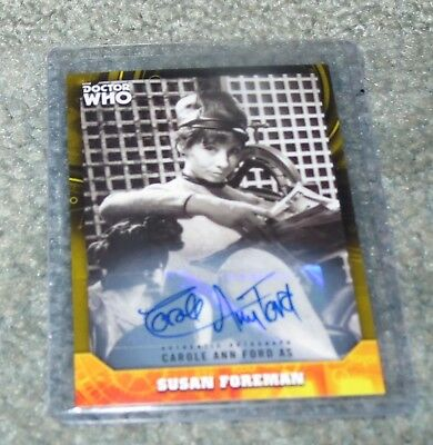 2017 Doctor Who Signature Series - Carole Ann Ford Autograph Yellow Parallel