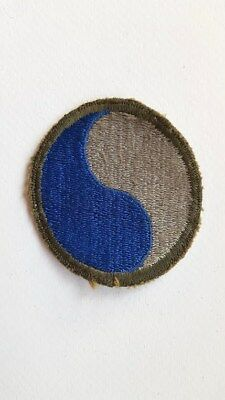 WWII US 29th Infantry Division Blue and Gray Patch