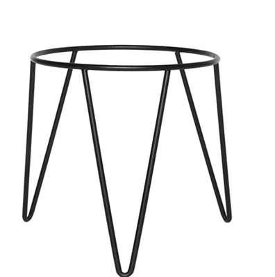 Black Metal Plant Stand Planter Scandi Industrial Outdoor Indoo Pot Office Home