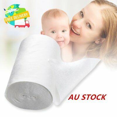 Baby WZushable Disposable Cloth Nappy Diaper Bamboo Liners 100 Sheets for 1 Roll