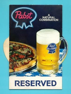 Milwaukee, WI - Pabst Blue Ribbon Beer Table Tent Advertising Display #2 - NOS