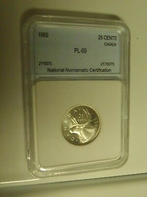 1965 Canada Proof Quarter Sealed in air tight holder