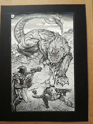 Simon Bisley original comic art Tower Chronicles Full splash page