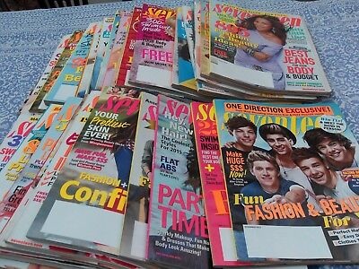 35 x Seventeen magazines from USA. job lot. beautiful magazines for teenage girl
