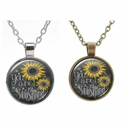 My Sunshine Necklaces For Date Weeding Party Sunflower Pendant Christmas Gift
