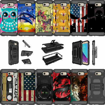 For Samsung Galaxy On7 | J7 Prime | J7 Halo Dual Layer Case Clip with Kickstand