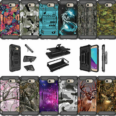 For Samsung Galaxy On7 | J7 Prime | J7 Halo Dual Layer Clip Stand Case - Camos